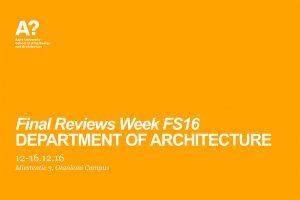 final reviews week fall semester 2016